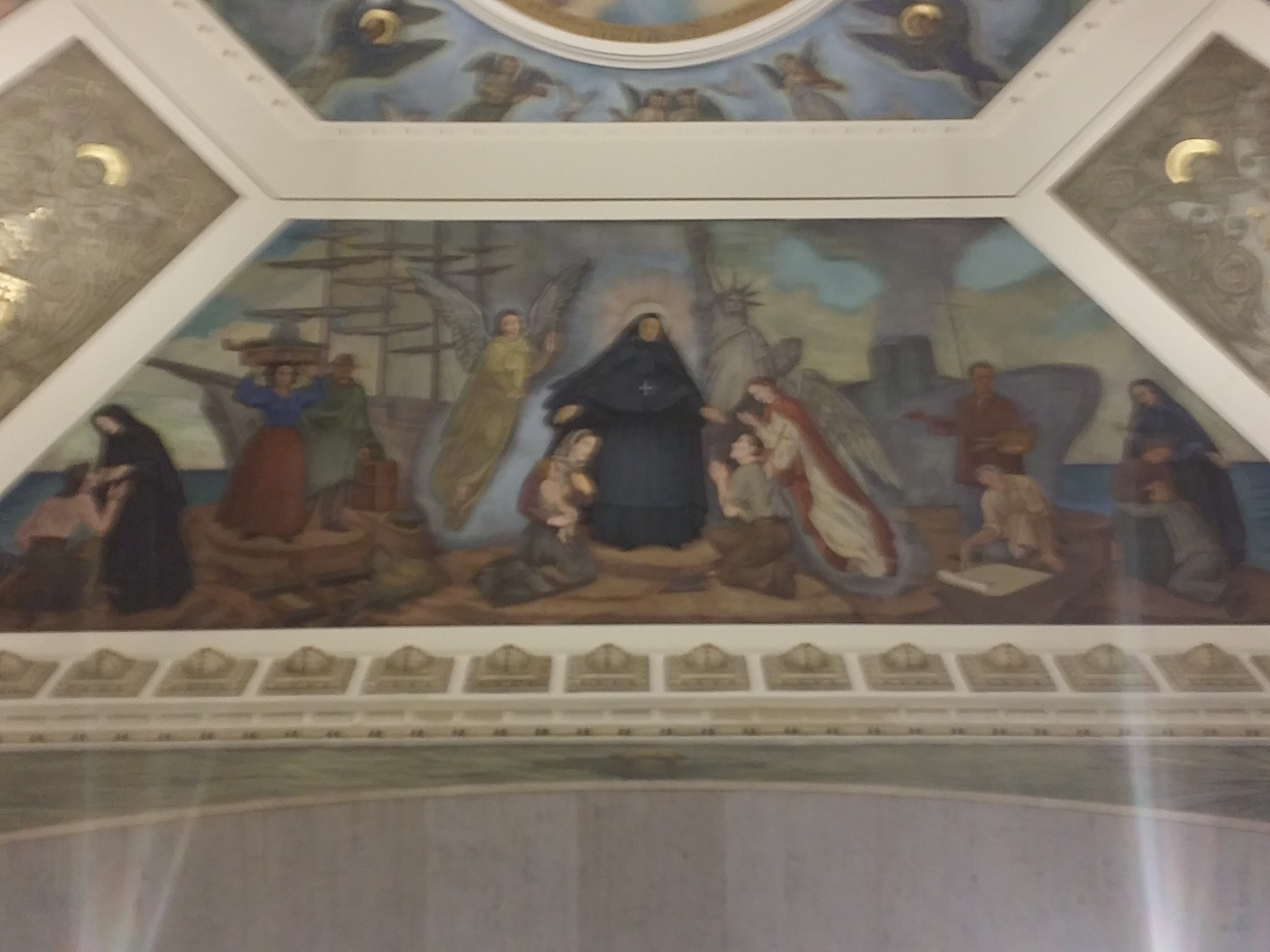 View Full Size Mother Cabrini Life Depictions